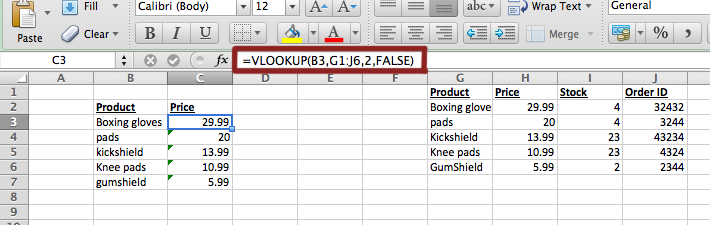 Excel – VLookup – Small Business Dad