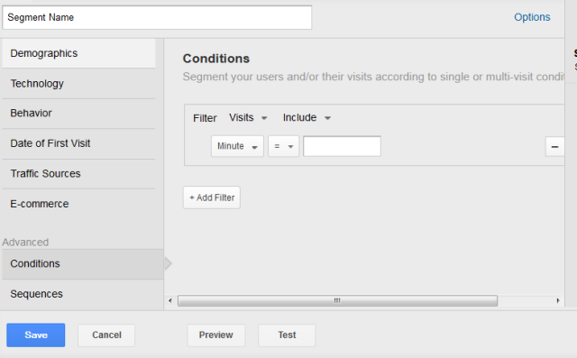 Segments in google analytics 2013 tutorial