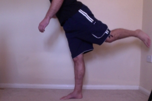 leg swing martial arts exercise