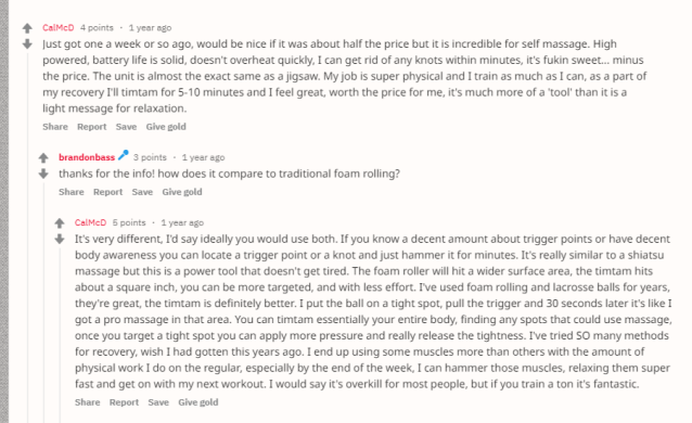 Power massager review reddit