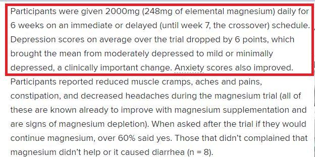 Magnesium Depression