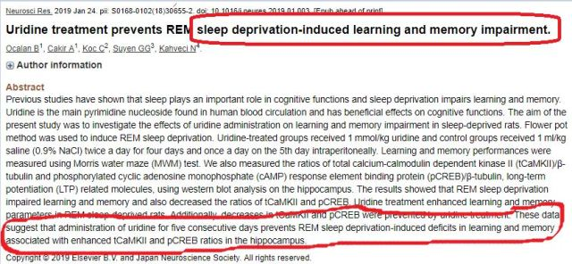uridine sleep study