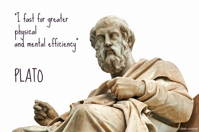 plato quote - i fast for great physical and mental efficiency