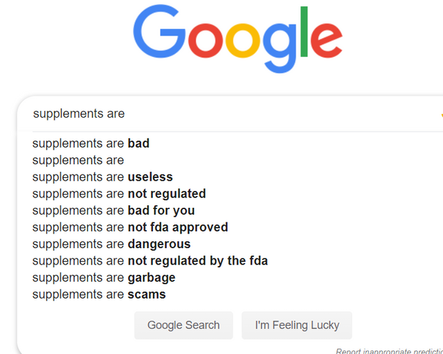 supplements are bad